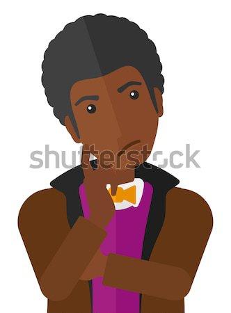 молодым человеком человека вектора дизайна иллюстрация Сток-фото © RAStudio