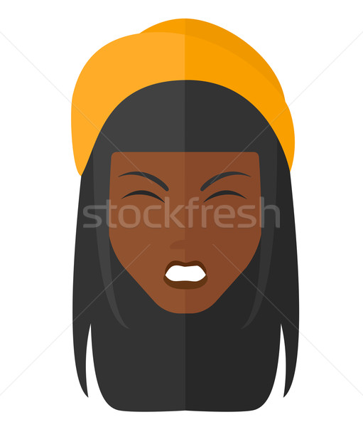 Screaming aggressive woman. Stock photo © RAStudio