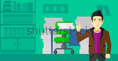Geslaagd business idee man wijzend omhoog Stockfoto © RAStudio