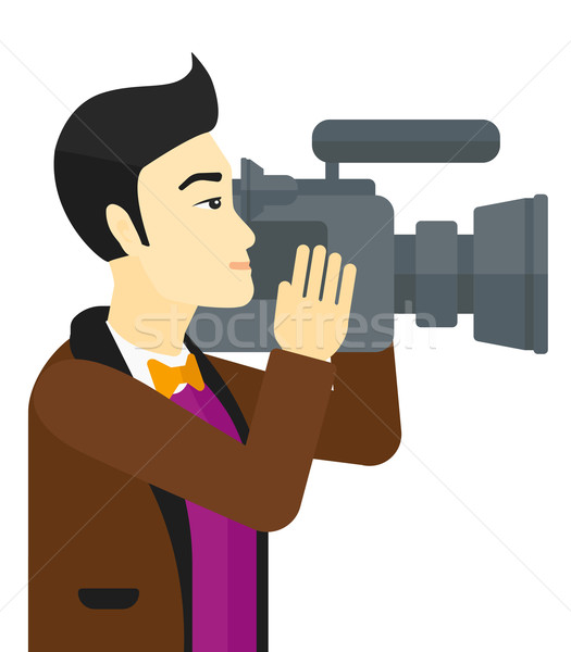 Cameraman with video camera. Stock photo © RAStudio