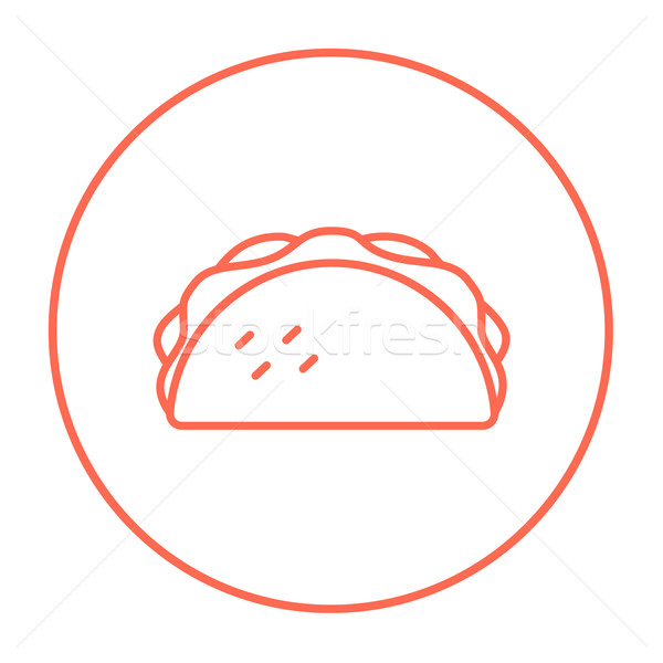 Tacos hat ikon web hareketli infographics Stok fotoğraf © RAStudio