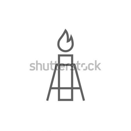 Gazu migotać line ikona internetowych Zdjęcia stock © RAStudio
