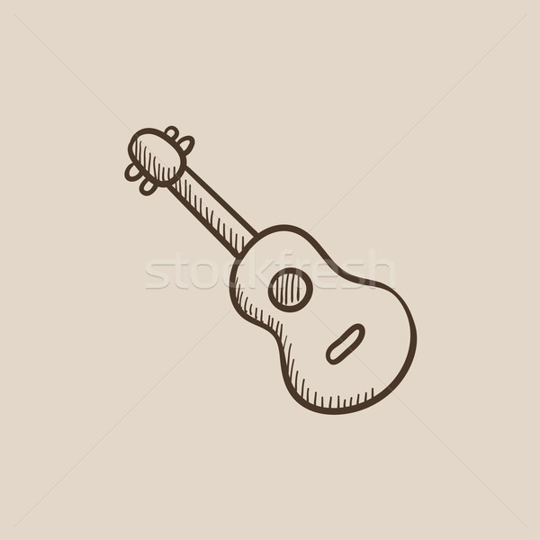 Guitar sketch icon. Stock photo © RAStudio