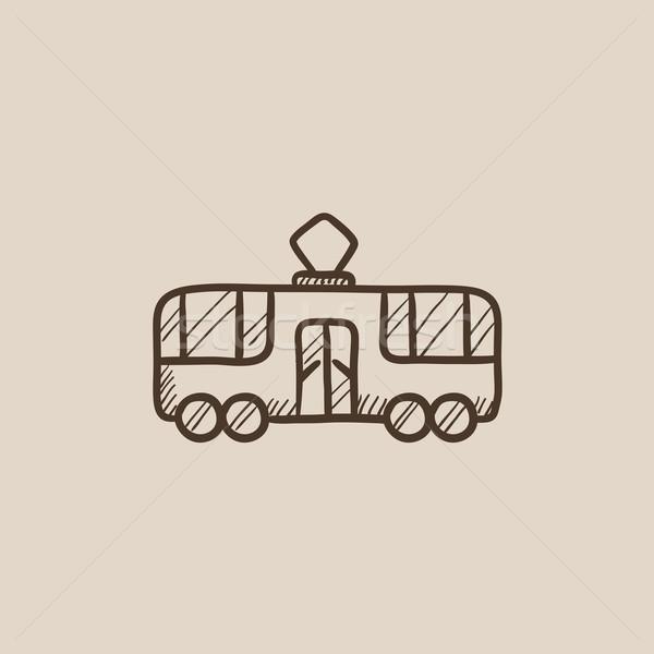Tranvía boceto icono web móviles infografía Foto stock © RAStudio