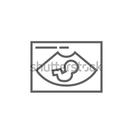 Ultrahang vonal ikon sarkok háló mobil Stock fotó © RAStudio