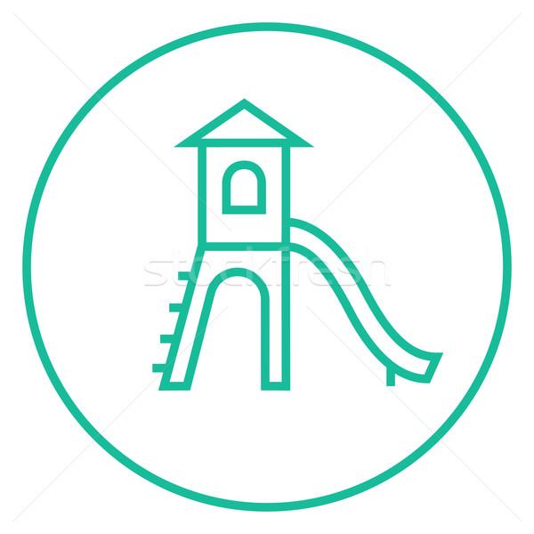 Recreio deslizar linha ícone teia Foto stock © RAStudio