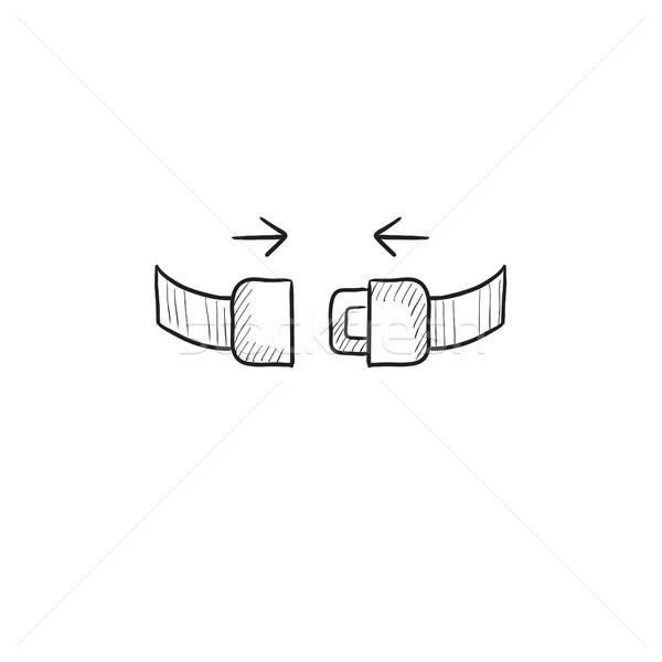 Koltuk kemer kroki ikon vektör yalıtılmış Stok fotoğraf © RAStudio