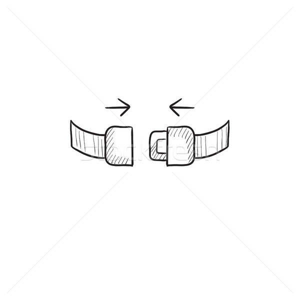 Sede cintura sketch icona vettore isolato Foto d'archivio © RAStudio