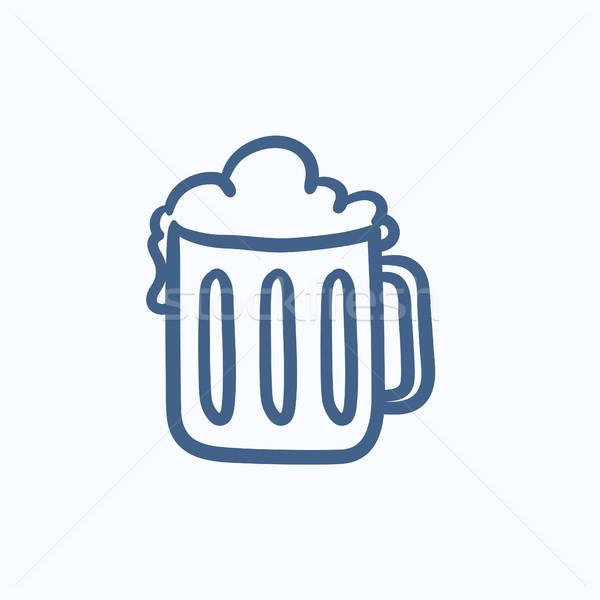 Mug of beer sketch icon. Stock photo © RAStudio