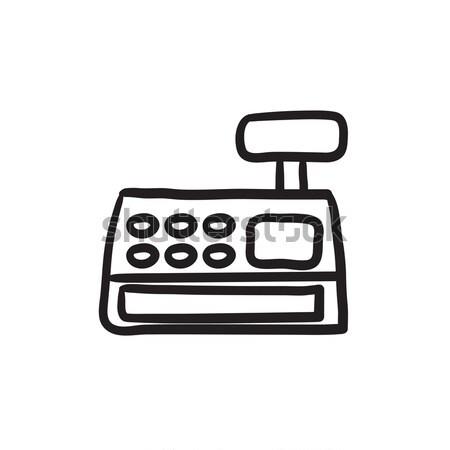 Cash register machine sketch icon. Stock photo © RAStudio