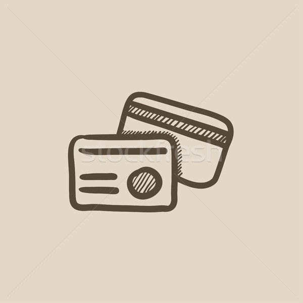 Identification card sketch icon. Stock photo © RAStudio