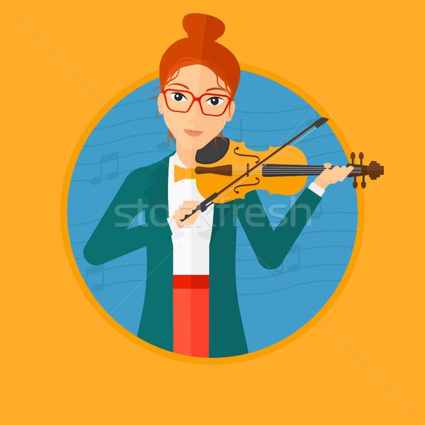 Woman playing violin. Stock photo © RAStudio