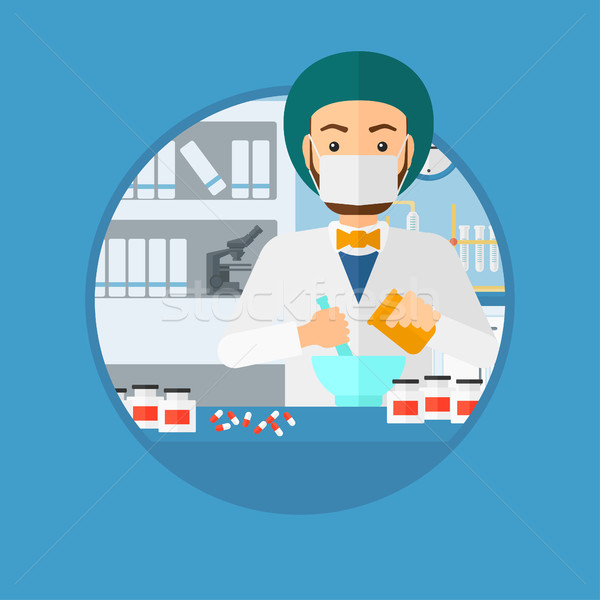 Apotheker geneeskunde laboratorium ziekenhuis apotheek Stockfoto © RAStudio