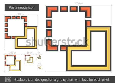 изображение линия икона вектора изолированный белый Сток-фото © RAStudio