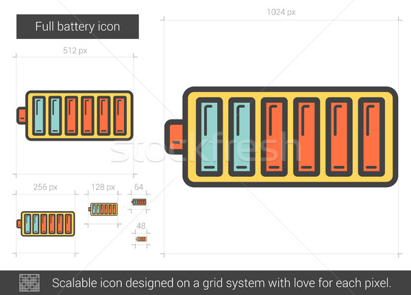 Full battery line icon. Stock photo © RAStudio