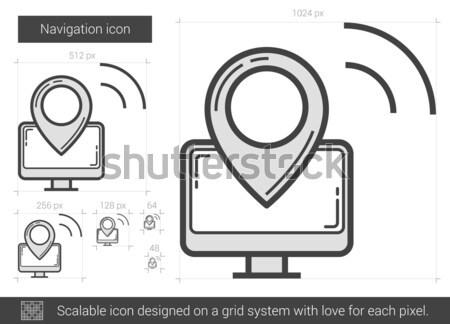 導航 線 圖標 向量 孤立 白 商業照片 © RAStudio