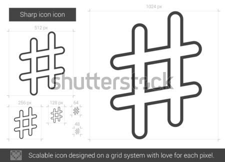 Ostry line ikona wektora odizolowany biały Zdjęcia stock © RAStudio