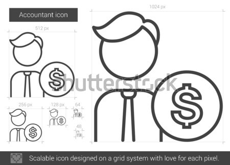 Accountant line icon. Stock photo © RAStudio