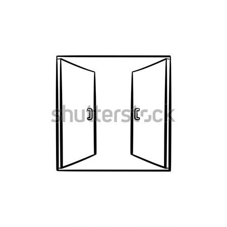 Open doors sketch icon. Stock photo © RAStudio