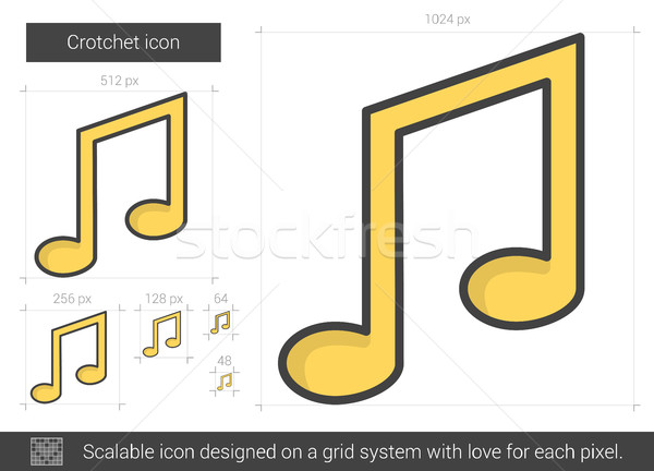 Crotchet line icon. Stock photo © RAStudio