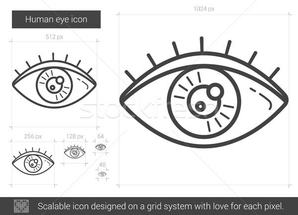 Human eye line icon. Stock photo © RAStudio