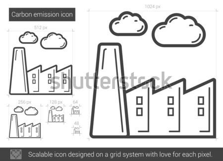 Carbono línea icono vector aislado Foto stock © RAStudio