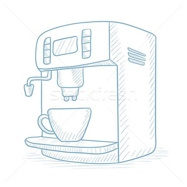 Coffee maker with cup. Stock photo © RAStudio