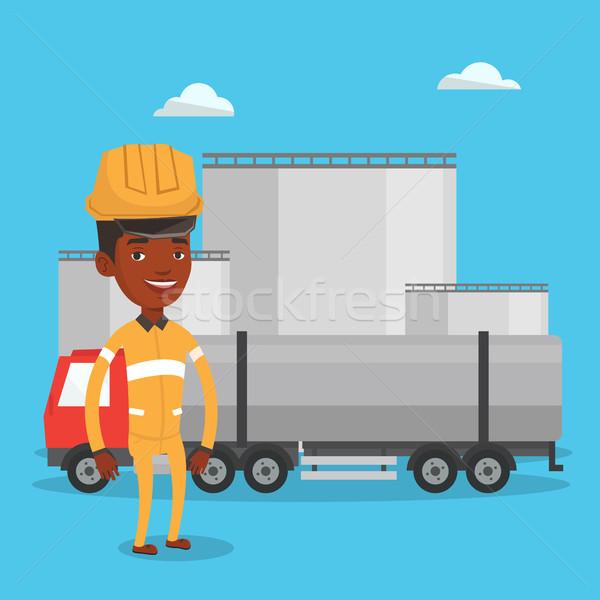 ワーカー 燃料 トラック 油 工場 アフリカ ストックフォト © RAStudio