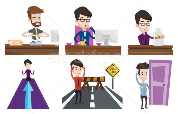 Vector set of business characters. Stock photo © RAStudio