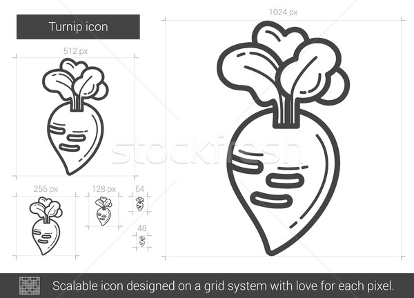 Stock photo: Turnip line icon.