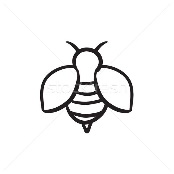 Méh rajz ikon háló mobil infografika Stock fotó © RAStudio
