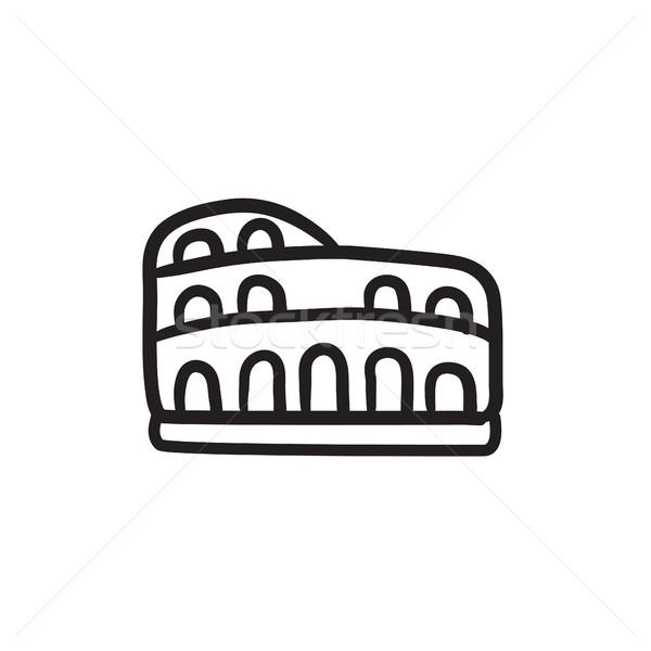 Coliseum sketch icon. Stock photo © RAStudio