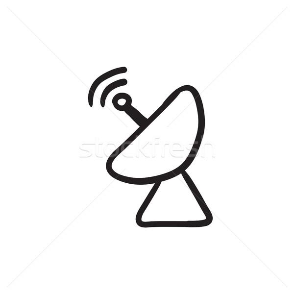 Radar esboço ícone vetor isolado Foto stock © RAStudio