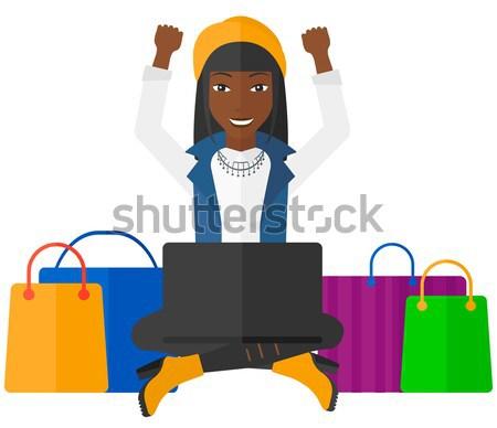Woman shopping online vector illustration. Stock photo © RAStudio
