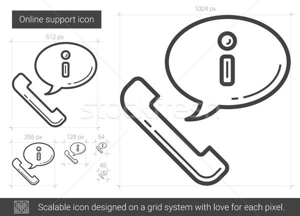 Online support line icon. Stock photo © RAStudio