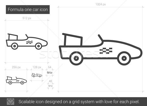 Formula one car line icon. Stock photo © RAStudio