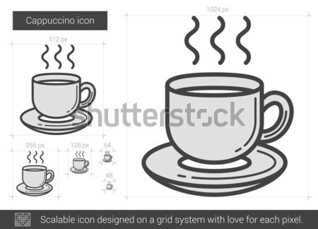 Cappuccino line icon. Stock photo © RAStudio