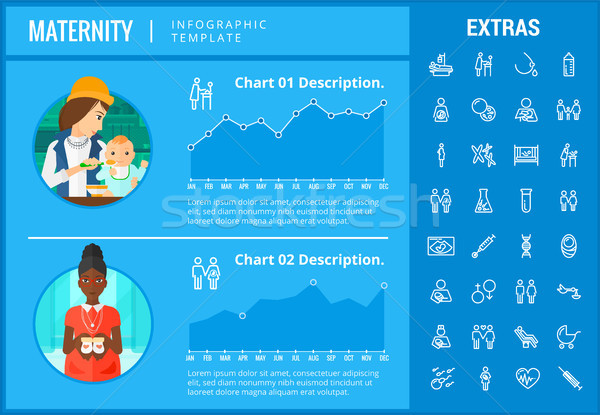 Maternity infographic template, elements and icons Stock photo © RAStudio