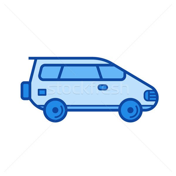 Vagon autó vonal ikon vektor izolált Stock fotó © RAStudio