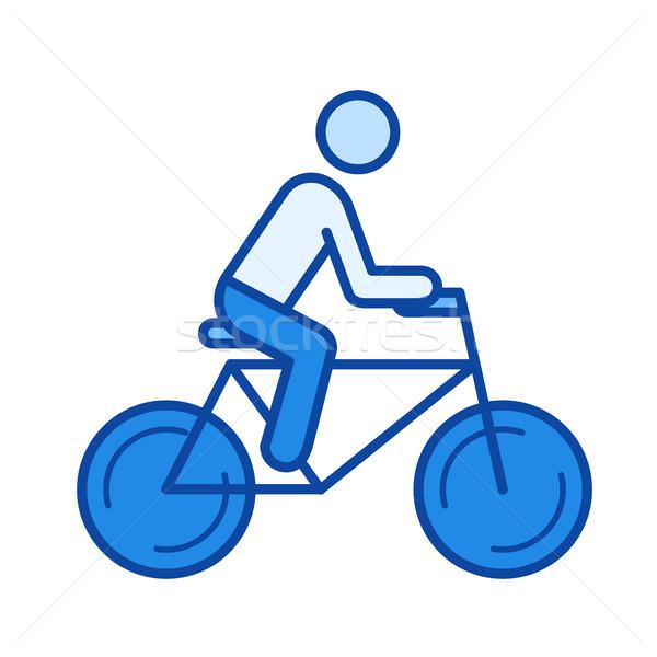 Stock photo: Road bike line icon.