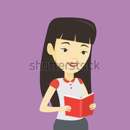 Mujer edificio pirámide red jóvenes Asia Foto stock © RAStudio