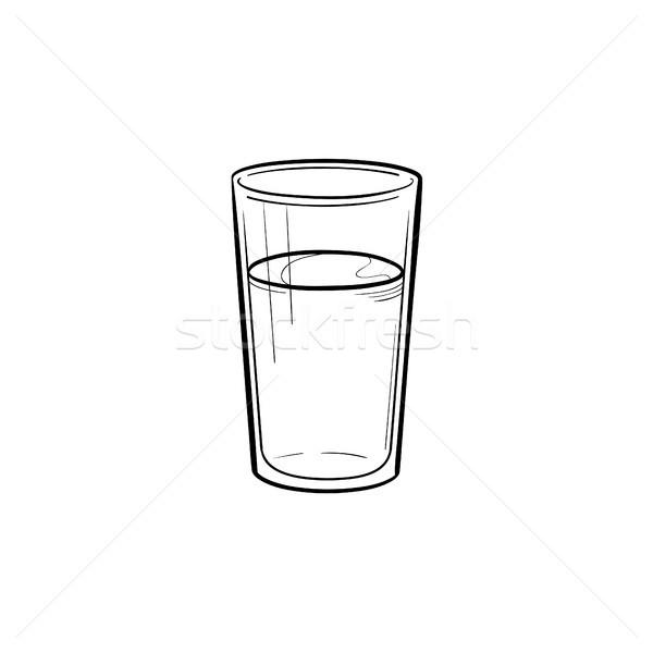 стекла воды рисованной эскиз икона Сток-фото © RAStudio