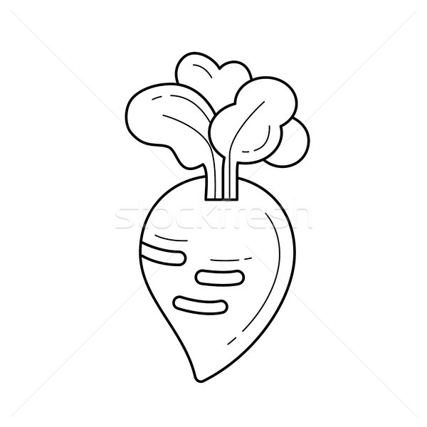Turnip vector line icon. Stock photo © RAStudio