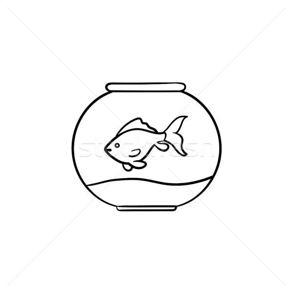 Acquario sketch icona contorno doodle Foto d'archivio © RAStudio