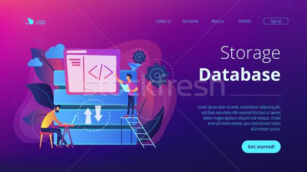 Big data developer concept vector illustration. Stock photo © RAStudio