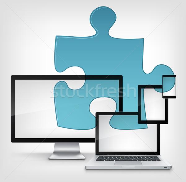 Puzzle Concept. Stock photo © RAStudio