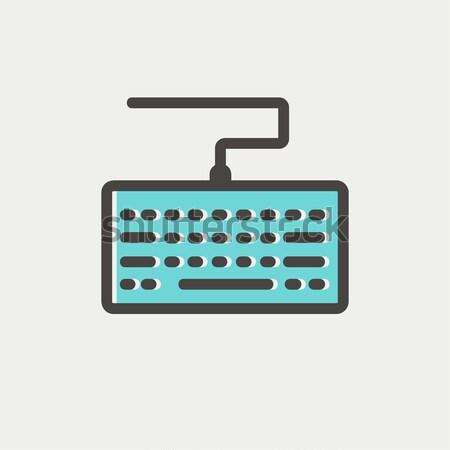 Stock photo: Keyboard thin line icon