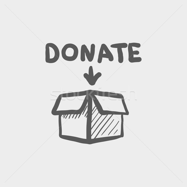 Donation box sketch icon Stock photo © RAStudio