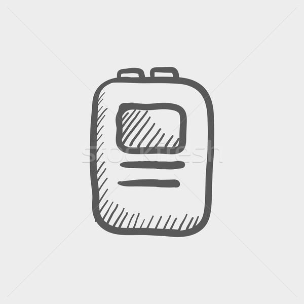 中心 スケッチ アイコン ウェブ 携帯 手描き ストックフォト © RAStudio