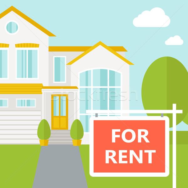 The house for rent. Stock photo © RAStudio